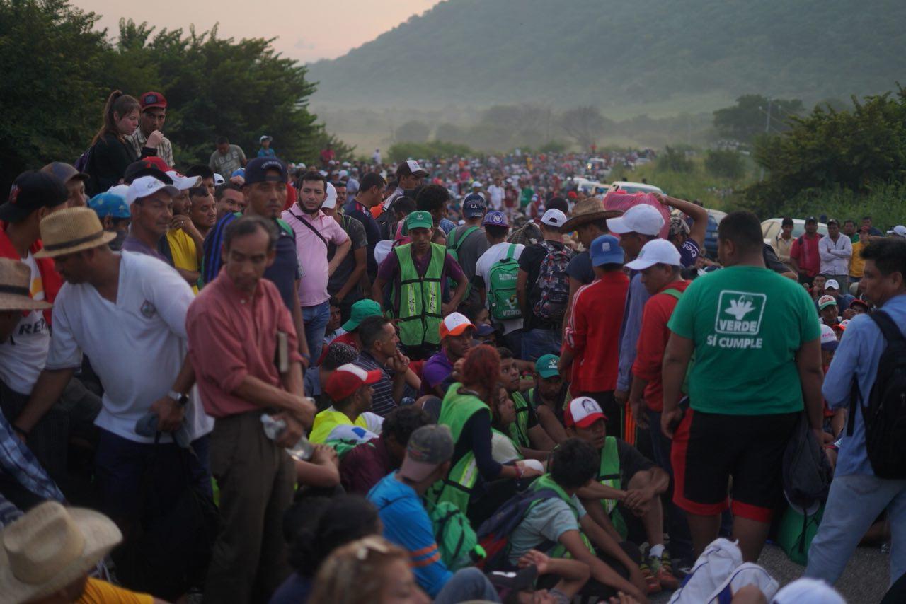 Arriba otro grupo de migrantes a Ixtepec, Oaxaca