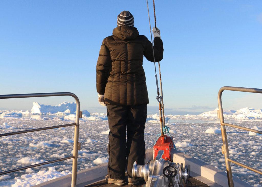 La científica Melania Guerra en el Artico. Foto: Melania Guerra